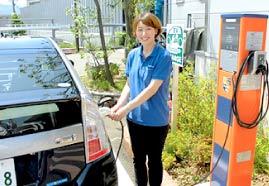 EV充電を利用している写真